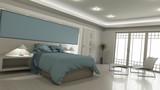 3D modern bedroom interior - 174769853