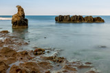 rocks with a curious shape on the beach of Dénia, Alicante - 174774278