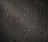 dark rusty metal armour 3d illustration - 174792641