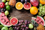 Different fresh fruits.
