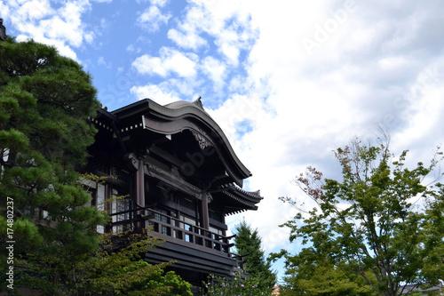 Fotobehang Zen The Japanese temple in Fukuoka. Pic was taken in August 2017. Translation: