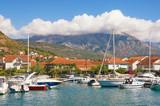 View of Marina Kalimanj in seaside town of Tivat. Montenegro - 174802486