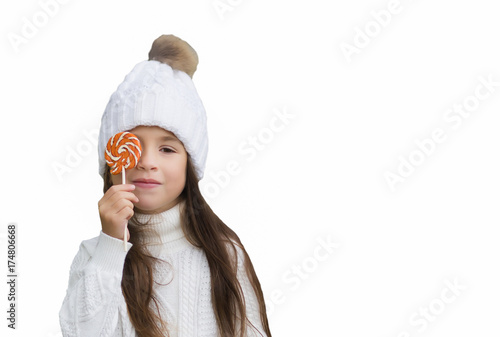 girl with Lollipop Poster