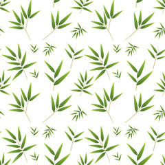 Seamless bamboo pattern on white