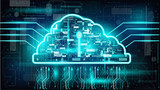 cloud technology background - 174815008
