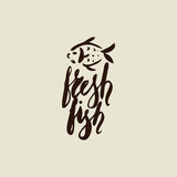 Fresh fish with waves - 174816670