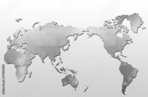 Aluminium Wereldkaarten 世界地図/地球