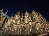 Night view of Cologne Cathedral, monument of German Catholicism and Gothic architecture  in Cologne, Germany. - 174833432