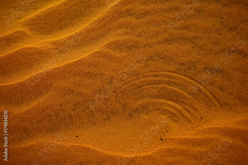 Foto op Canvas Baksteen Texture sand in the desert