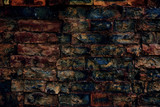 Old brick wall texture on the street - 174836835