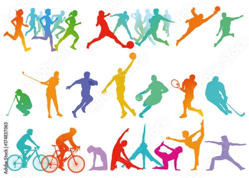 Sport Kollektion, und Freizeit isoliert