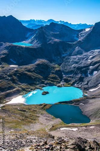 Deurstickers Nachtblauw Imereti lake