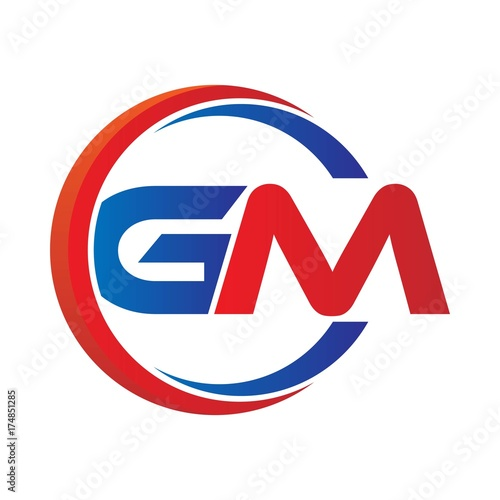 gm logo vector modern initial swoosh circle blue and red buy rh apimages com gm vector logo download gm canada logo vector