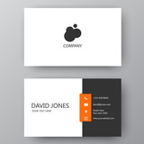 Modern presentation card with company logo. Vector business card template. Visiting card for business and personal use.  Vector illustration design. - 174852803