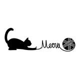 Playing cat. Vector illustration.