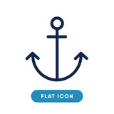 Anchor vector icon, sail symbol. Modern, simple flat vector illustration for web site or mobile app