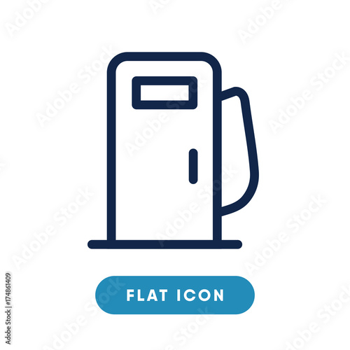 Gasoline Vector Icon Gas Station Symbol Modern Simple Flat Vector