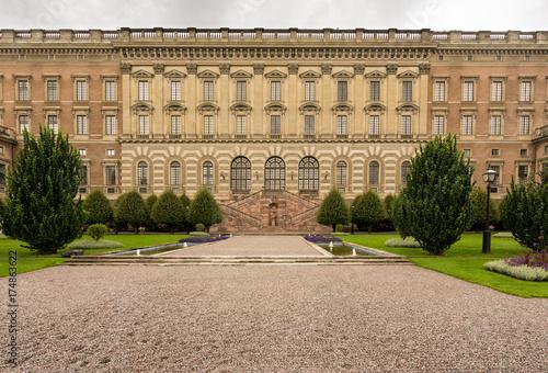 Plexiglas Stockholm Garden in front of Royal Palace, Stockholm