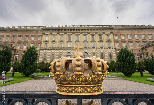 Keuken foto achterwand Stockholm Crown in front of Royal Palace, Stockholm