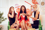 Cheerful Girls On Birthday Party - 174867054