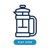 Filter coffee vector icon, symbol. Modern, simple flat vector illustration for web site or mobile app