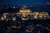 Acropolis at night from Lycabetus