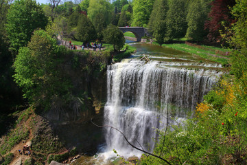 Webster waterfall, Dundas, Ontario, Canada.