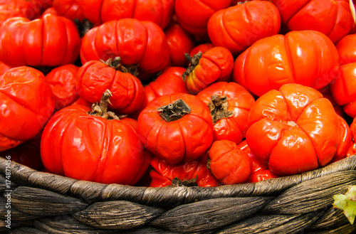 Colorful pumpkins at a country fair - 174871456