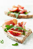 Sandwiches with Cheese and Rocket - 174872079