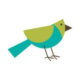 bird geometrical shape icon image vector illustration design