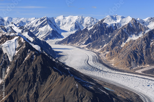 Foto op Canvas Canada Kaskawulsh Glacier in Kluane National Park, Yukon, Canada