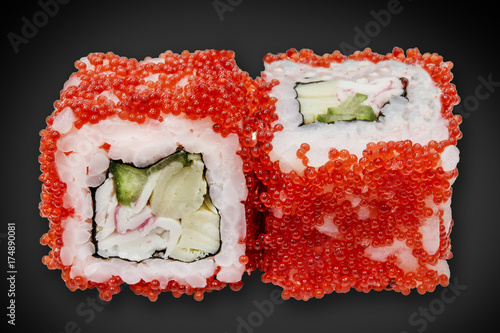 Foto op Canvas Sushi bar Japanese cuisine with sushi rice