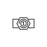Champion belt line icon, outline vector sign, linear style pictogram isolated on white. Symbol, logo illustration. Editable stroke - 174901249