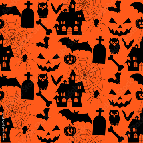 Cotton fabric Halloween background. vector illustration