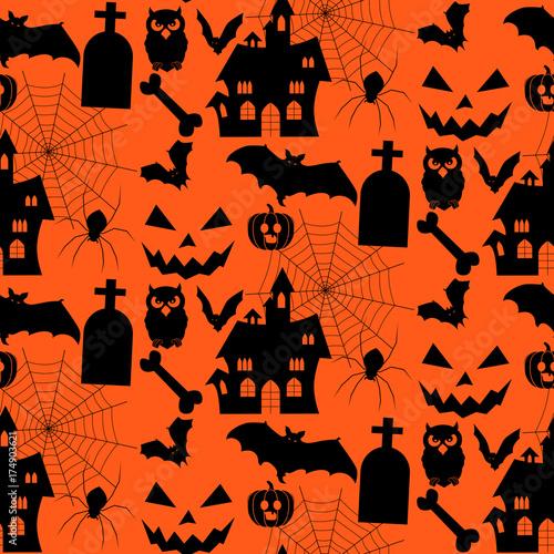 Materiał do szycia Halloween background. vector illustration