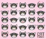 cat emoticon, vector - 174905421