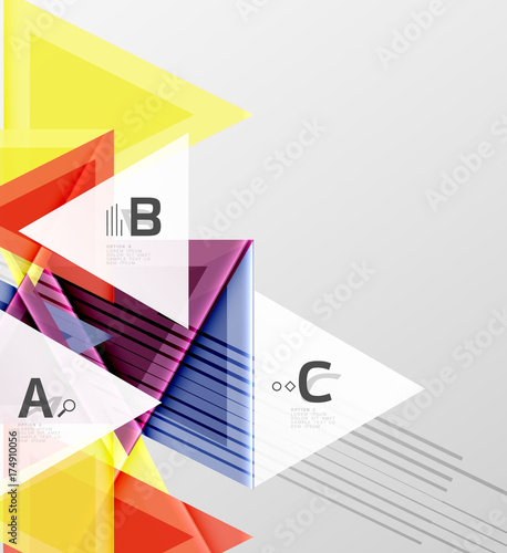 Deurstickers Geometrische dieren Triangles and geometric shapes abstract background