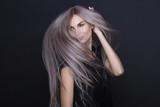 Long Purple Beautiful Hair flying - 174912060