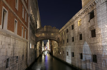 VENICE of Sighs at night using long exposure