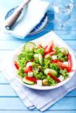 Mediterranean-style Salad with Feta Cheese - 174915267