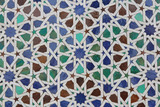 moroccan colorful glass pattern texture