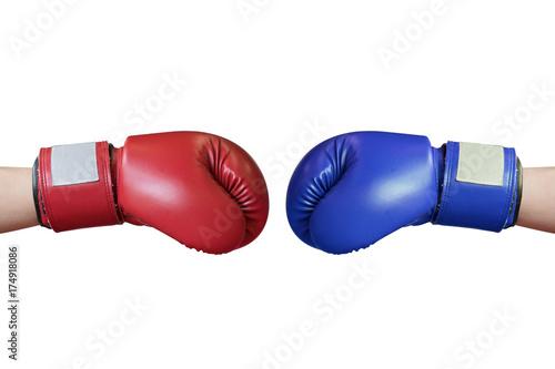 Staande foto Stierenvechten hand with boxing glove on white background