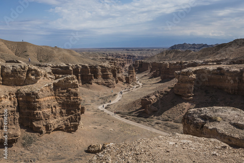 Papiers peints Cappuccino Charyn Canyon and the Valley of Castles, National park, Kazakhstan.