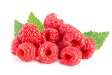 Raspberry isolated on white background. Pile or heap - 174920045
