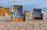 Sunset and beach chairs - Kampen, Sylt  - 174920685