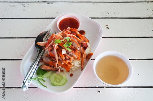 hainanese chicken rice in Thailand Poster