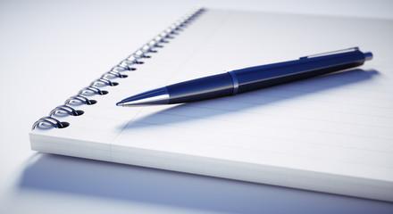 Kugelschreiber auf Schreibblock