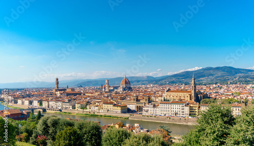 Foto op Canvas Florence Florence panorama city skyline Tuscany Italy