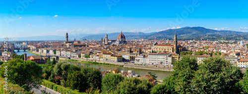 Poster Florence Florence panorama city skyline Tuscany Italy