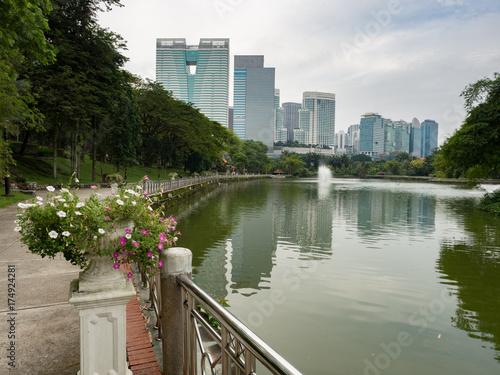 Tuinposter Kuala Lumpur Perdana botanical garden in Kuala Lumpur city centre
